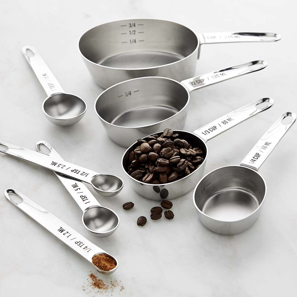 Williams Sonoma Stainless-Steel Nesting Measuring Cups & Set