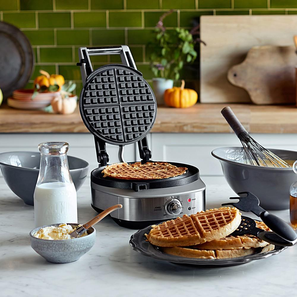 Breville No-Mess Classic Round Waffle Maker Williams Sonoma AU