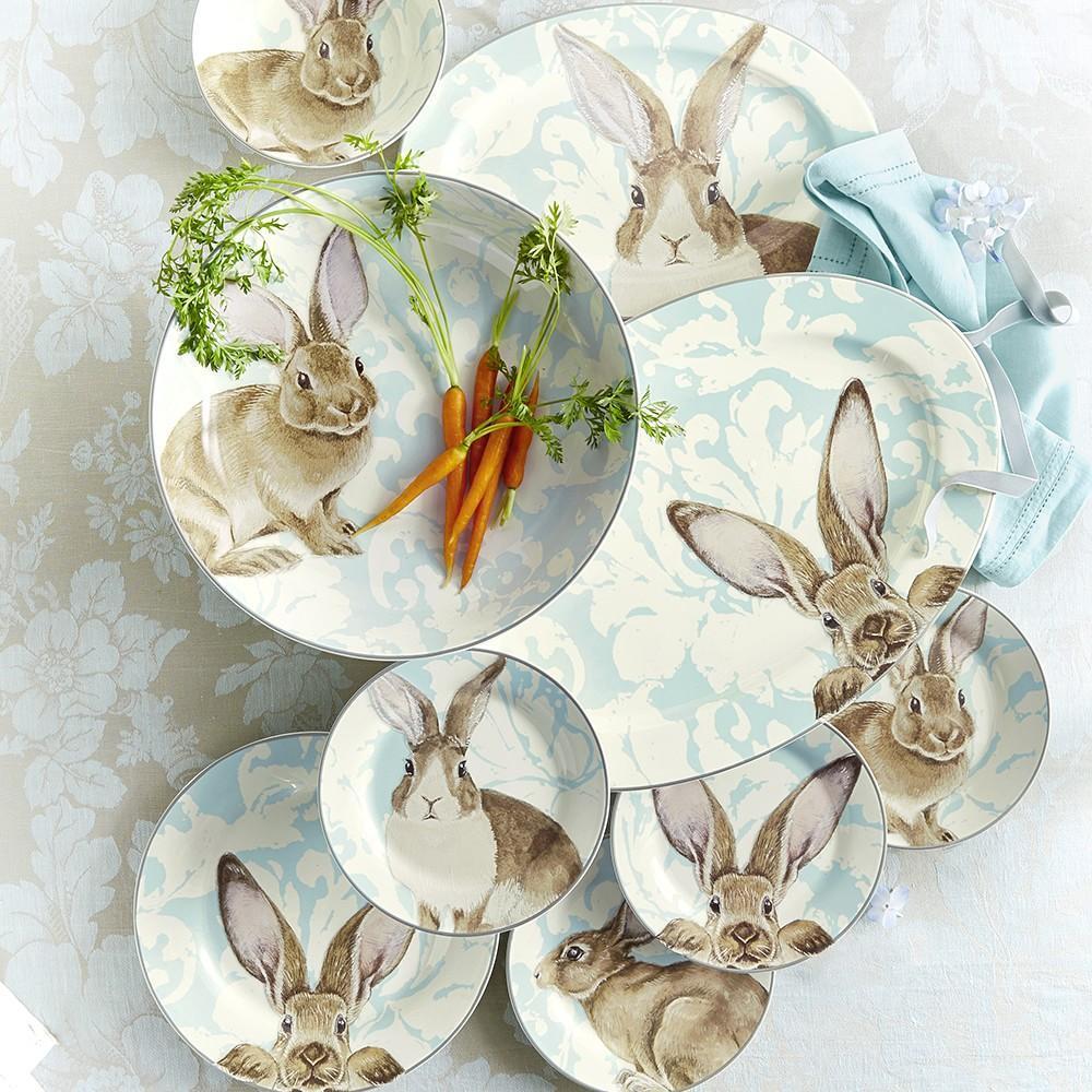 Damask Bunny Dinner Plates Williams Sonoma Au