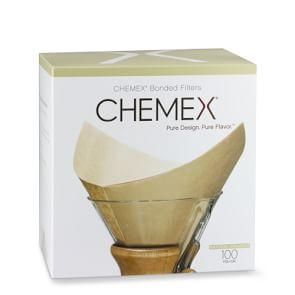 Chemex¨ Unbleached Prefolded Square Coffee Filters