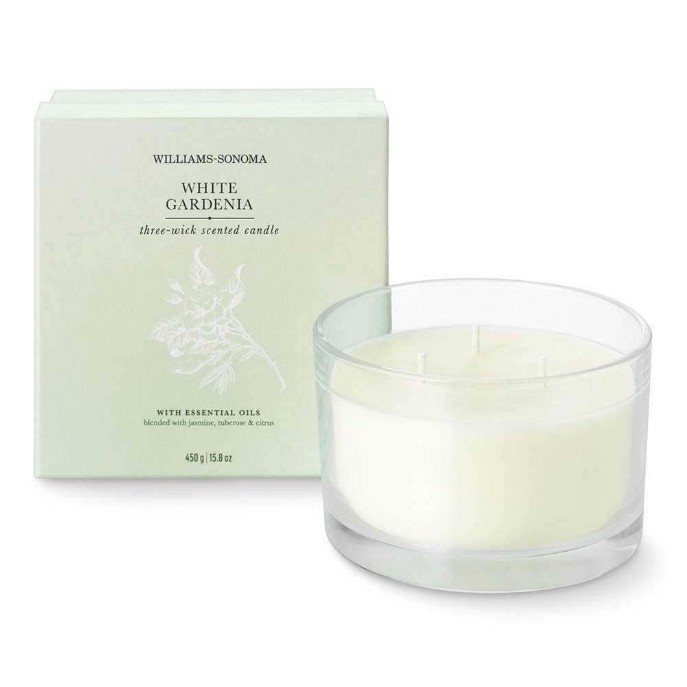 Williams Sonoma Triple-Wick Candle, White Gardenia