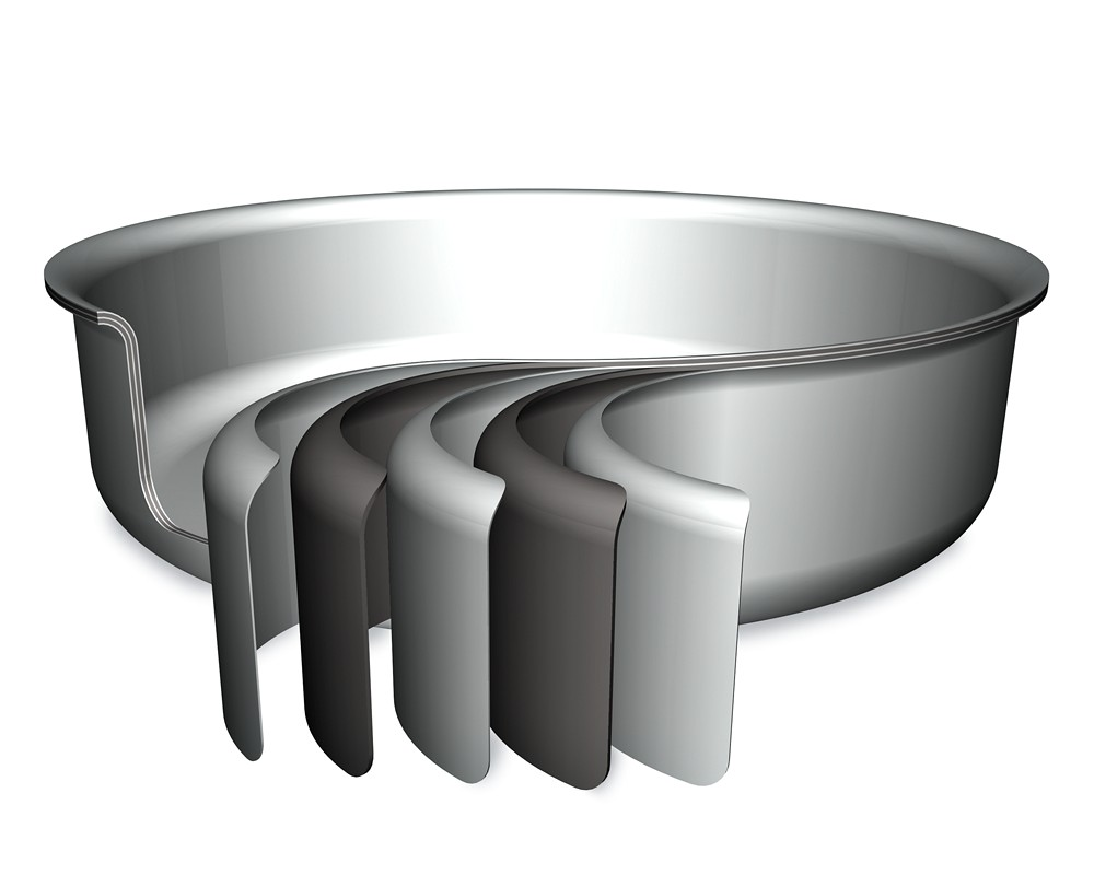 All Clad D5 Stainless Steel Nonstick Covered Fry Pan 30