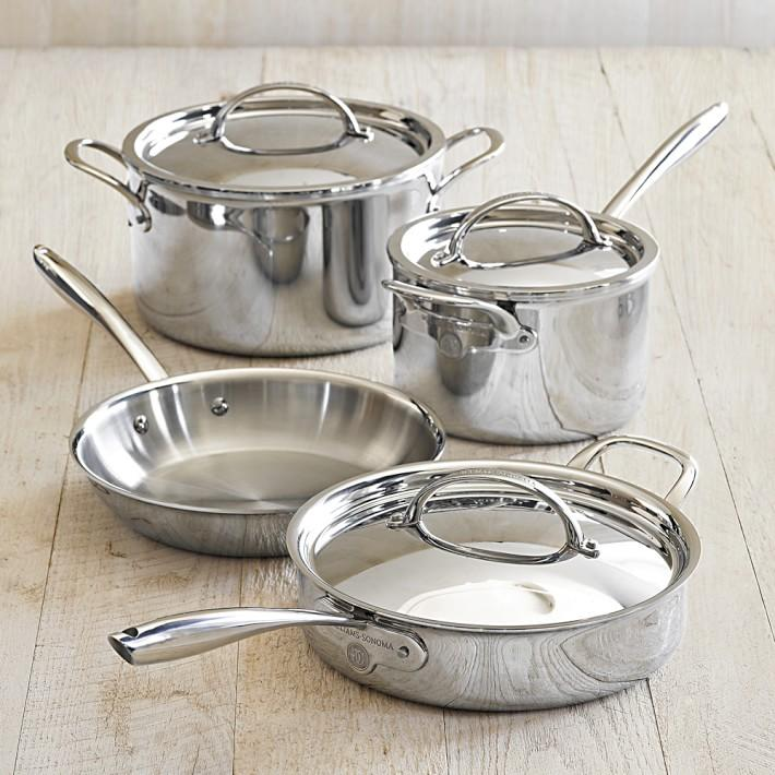 Williams Sonoma Thermo-Clad™ SS 7-Pc Cookware Set