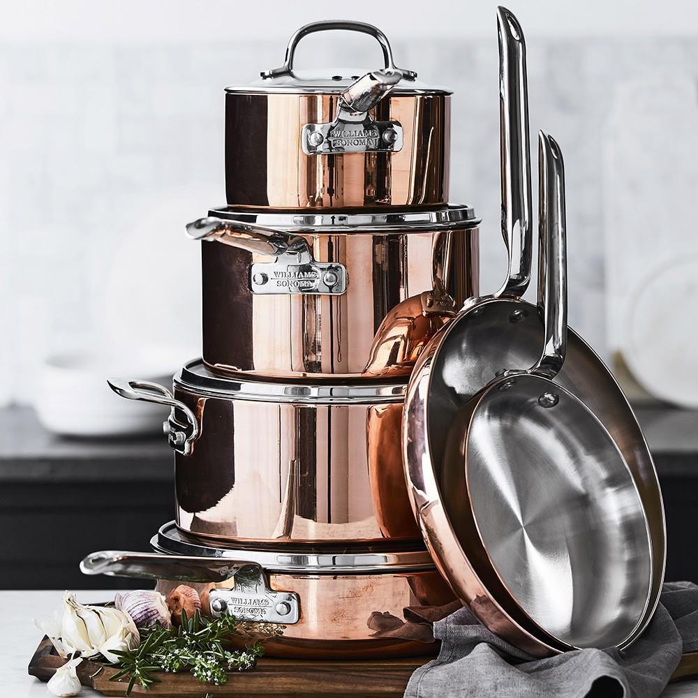 Williams Sonoma Professional Copper 10-Piece Cookware Set