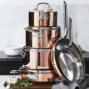 Williams Sonoma Professional Copper 10-Piece Cookware Set