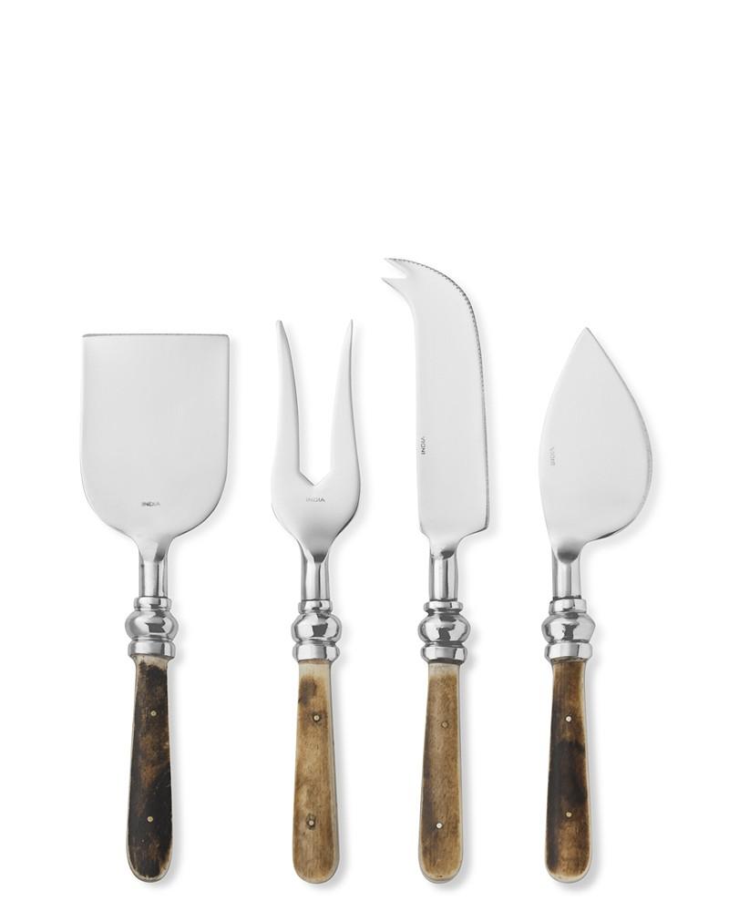 Bone Handled Cheese Knives, Set of 4