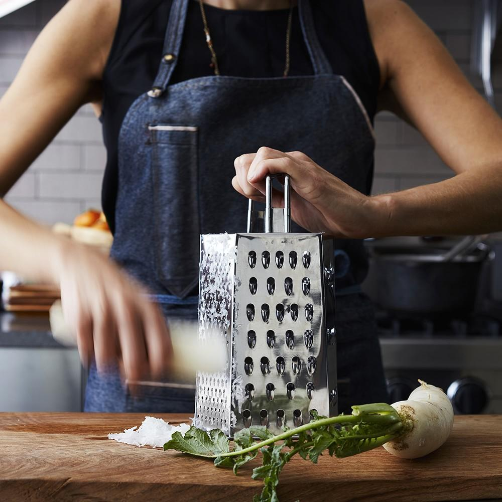 Williams Sonoma Open Kitchen Stainless-Steel 6-Sided Grater
