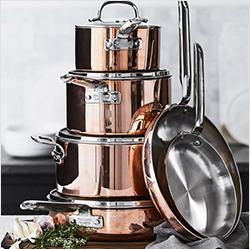 Williams Sonoma Copper Cookware