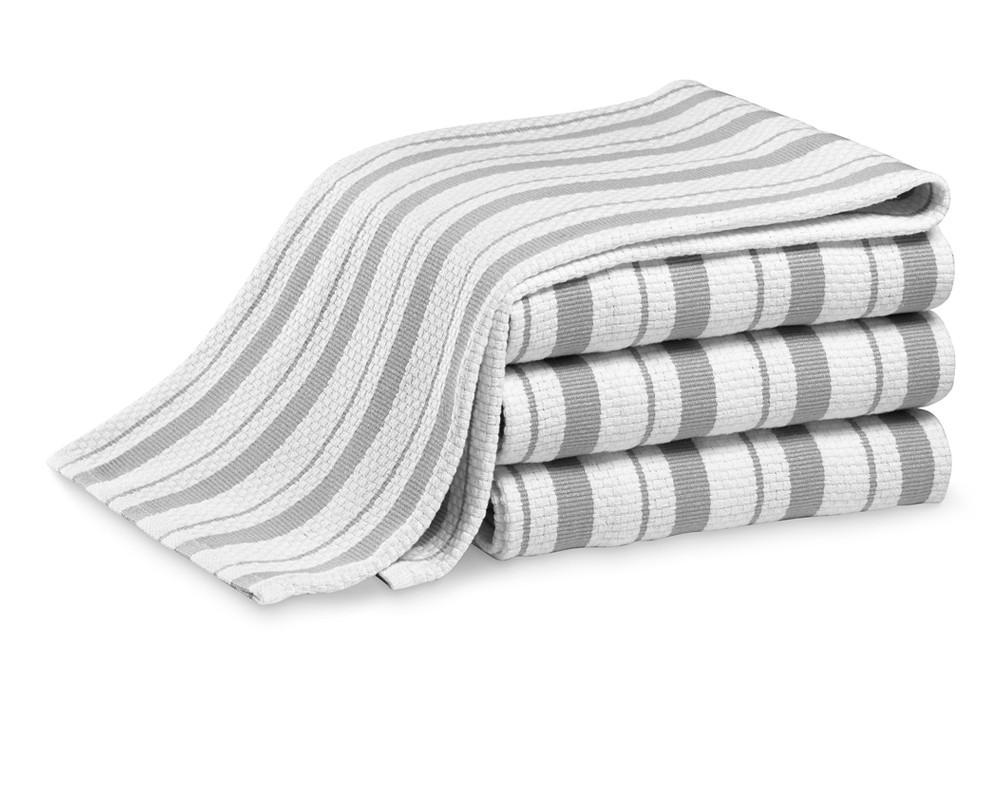 Williams Sonoma Striped Tea Towels, Set of 4, Drizzle