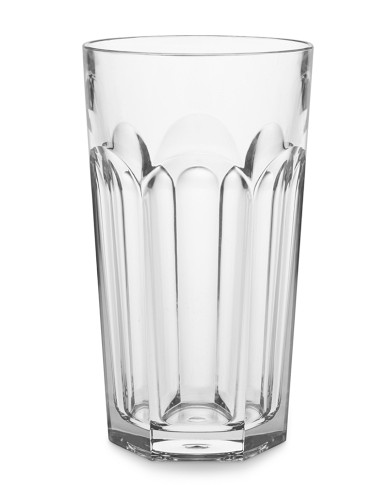 DuraClear® Large Faceted Tumbler, Clear