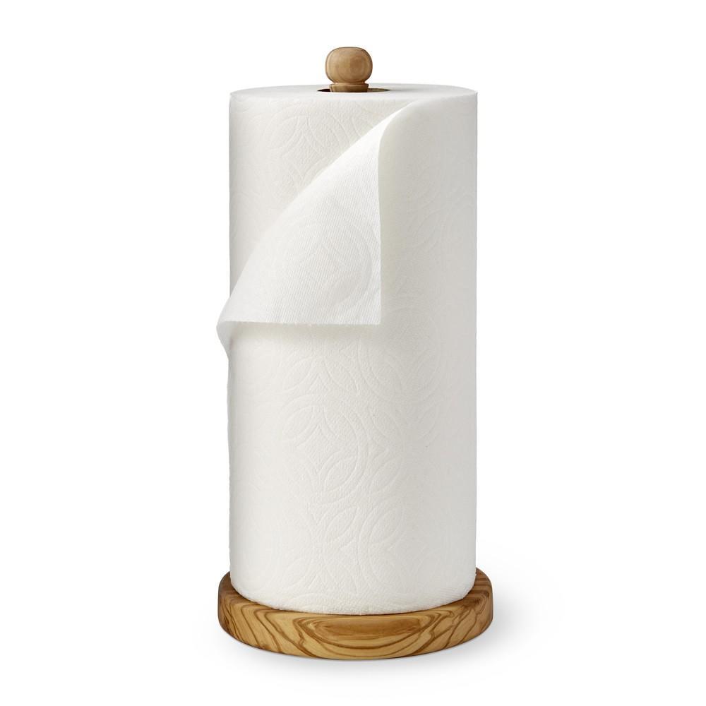 Olivewood Paper Towel Holder