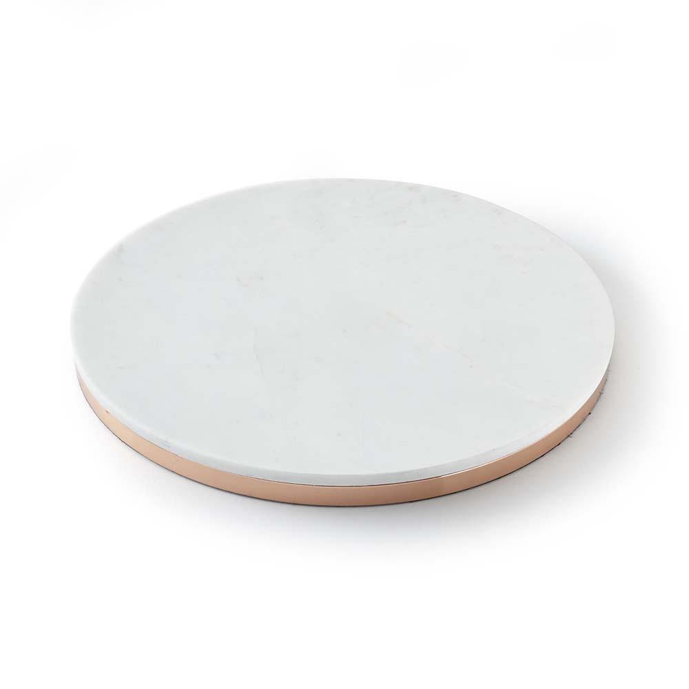 Marble & Copper Round Board