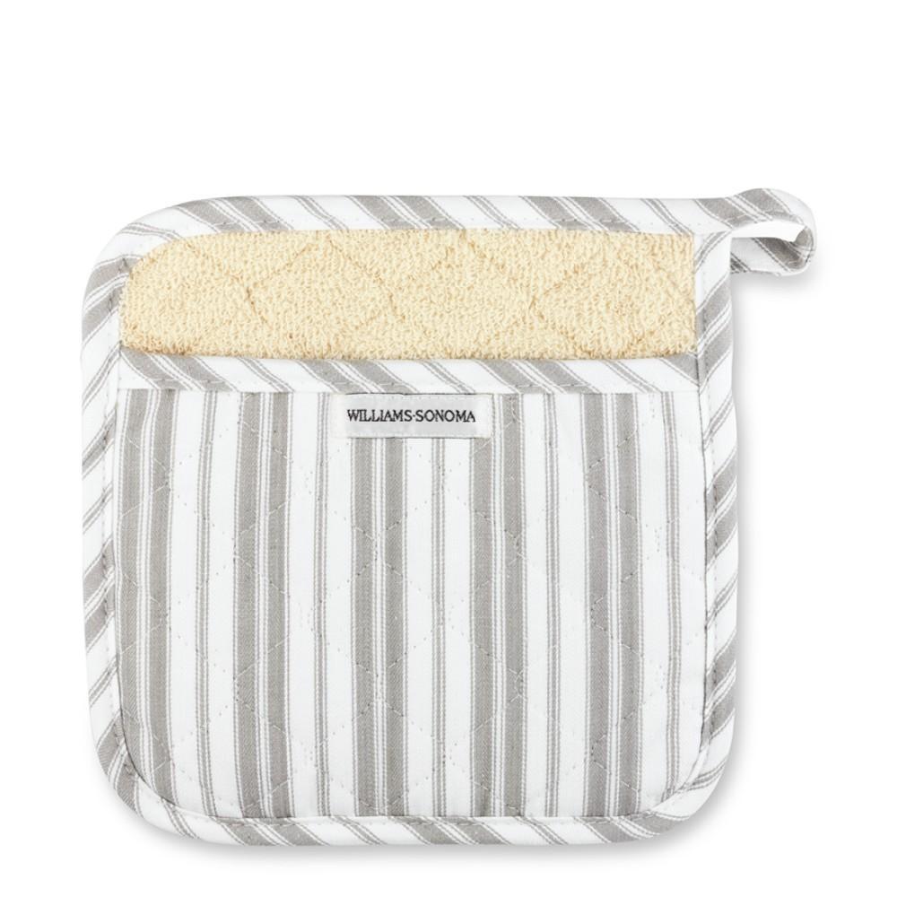 Williams Sonoma Stripe Pot Holder, Grey