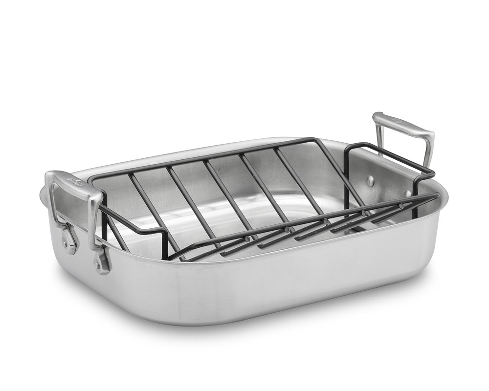 All-Clad Stainless-Steel Roaster with Rack