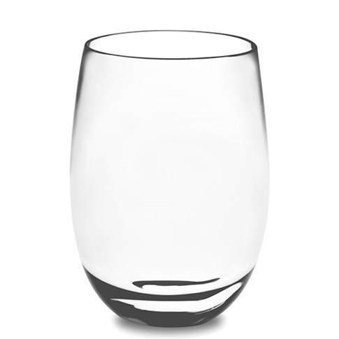 DuraClear® Osteria Stemless Red Wineglass, Clear