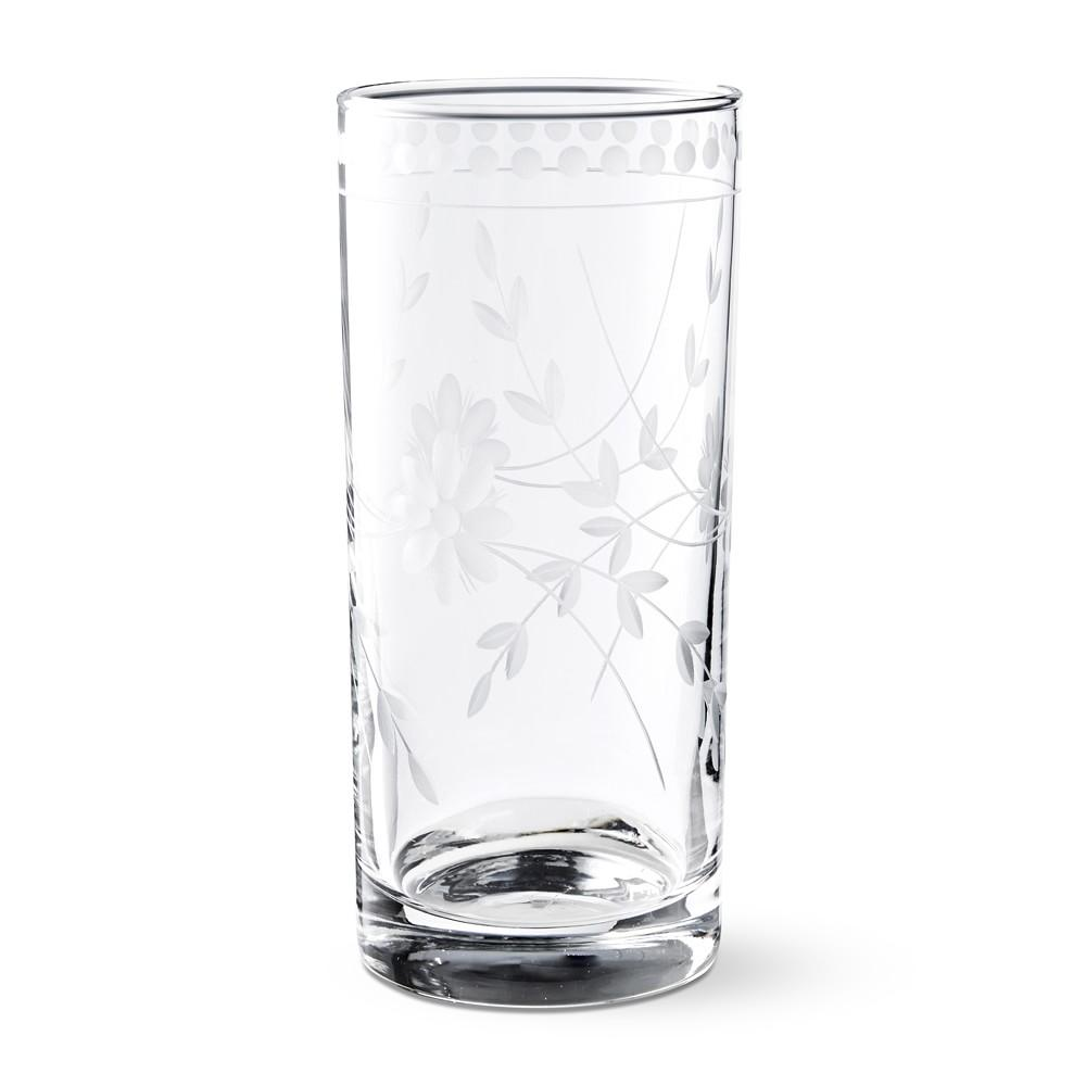 Vintage Etched Highball Glass