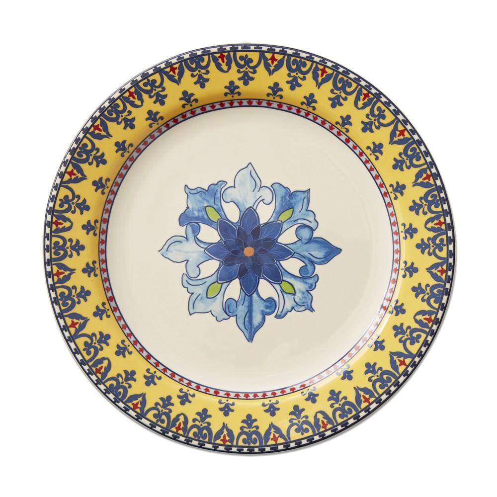 Sicily Dinner Plate, Yellow Rim
