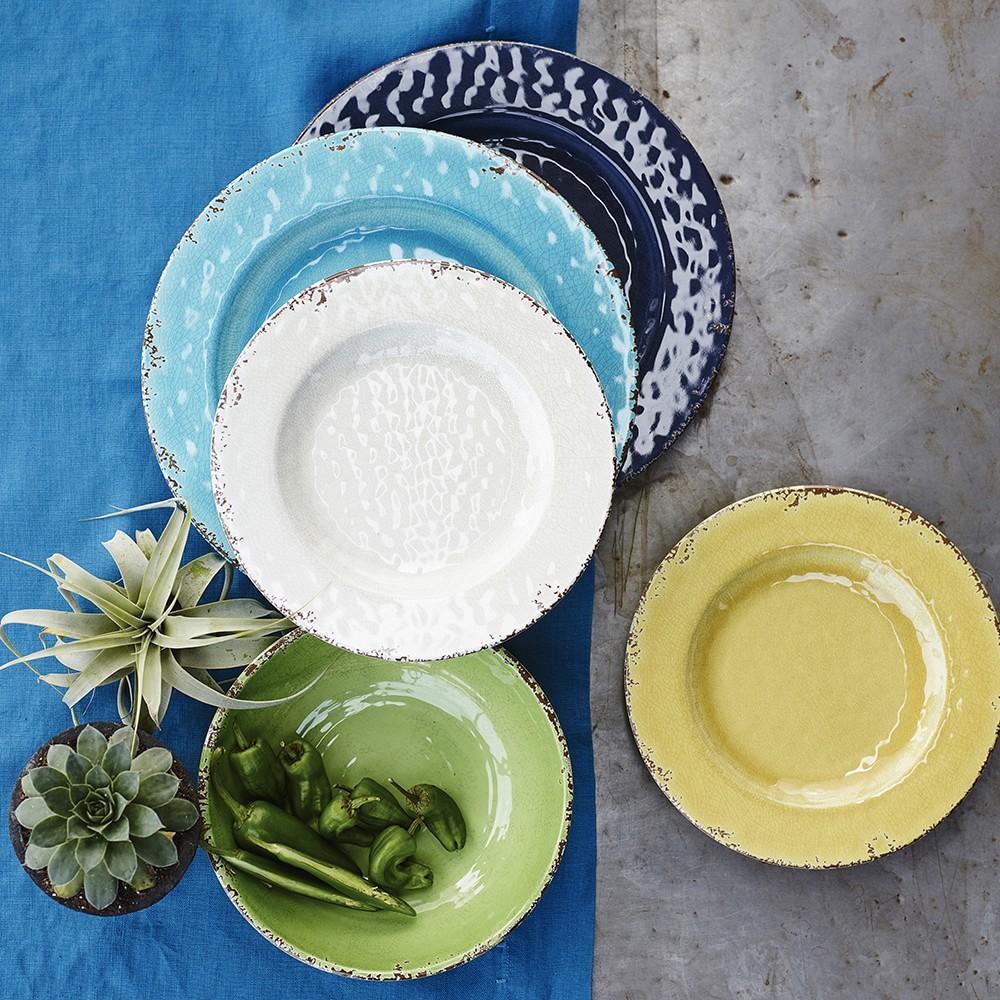 Rustic Melamine Salad Plate, Azure Blue | Williams Sonoma AU