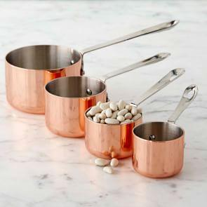 Copper Measuring Cups, Set of 4