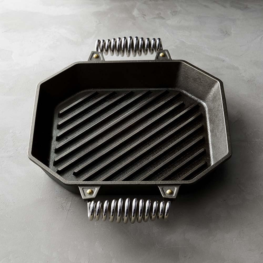 FINEX Cast-Iron Double-Handle Grill Pan