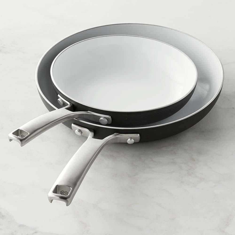 Calphalon Classic Ceramic Nonstick Fry Pan Set, 20 cm & 25 cm