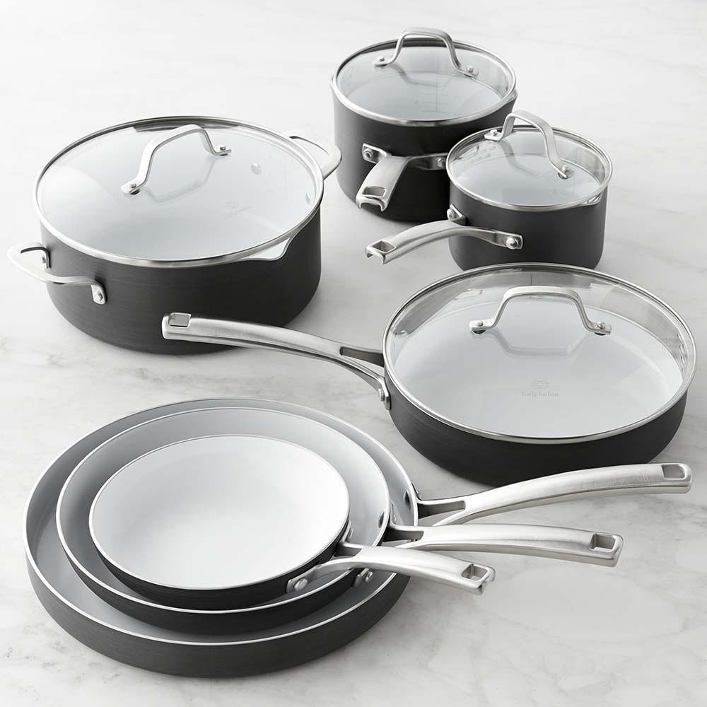 Calphalon Classic Ceramic Nonstick 11-Piece Cookware Set