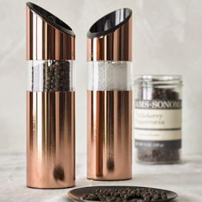 Trudeau Graviti Electric Salt & Pepper Mills, Copper