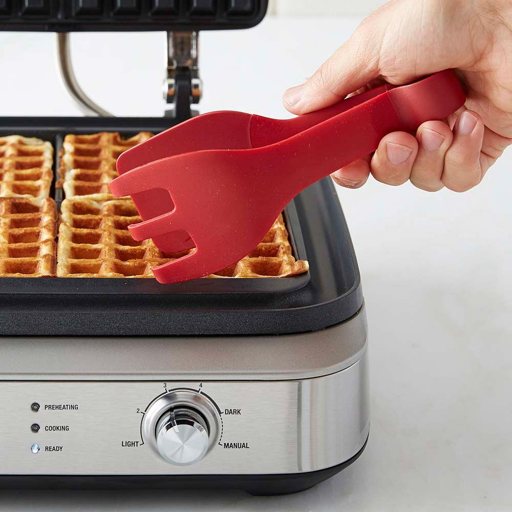 Williams Sonoma Ultimate Waffle Tongs, Red