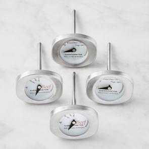 Williams Sonoma Button Thermometers, Set of 4