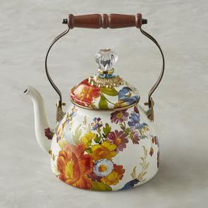 MacKenzie-Childs Tea Kettle, 1.8 L, Flower