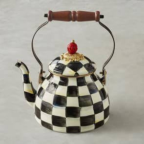 MacKenzie-Childs Tea Kettle, 1.8 L, Checkered