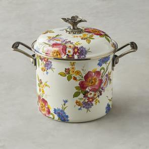 MacKenzie-Childs Stock Pot, 6.6 L, Flower
