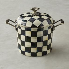 MacKenzie-Childs Stock Pot, 6.6 L, Checkered