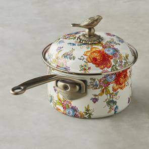 MacKenzie-Childs Saucepan. 2.3 L, Flower