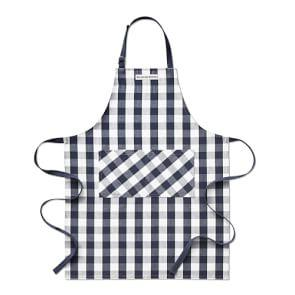 Williams Sonoma Chequered Adult Apron, Navy Blue