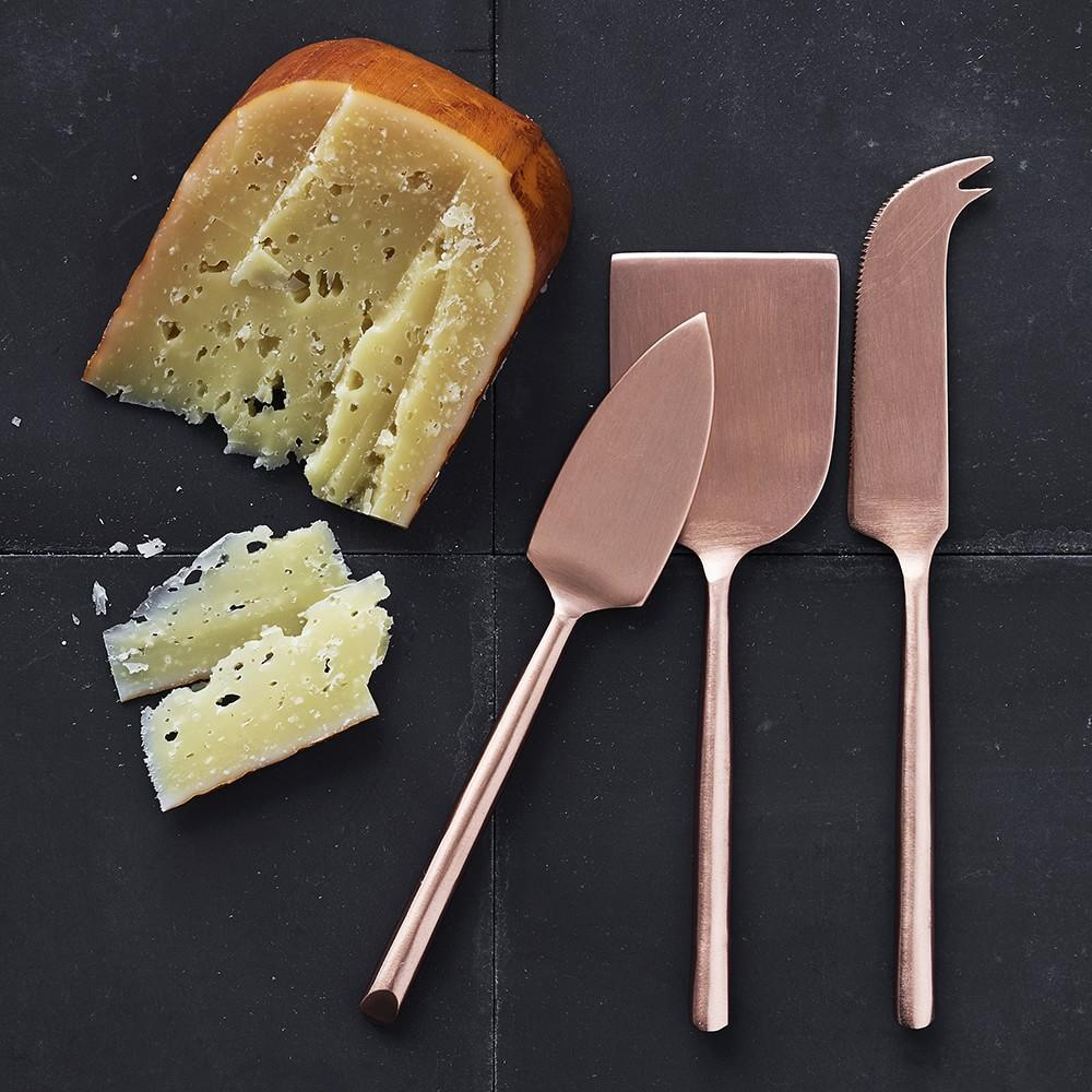 Copper Cheese Knives, Set of 3