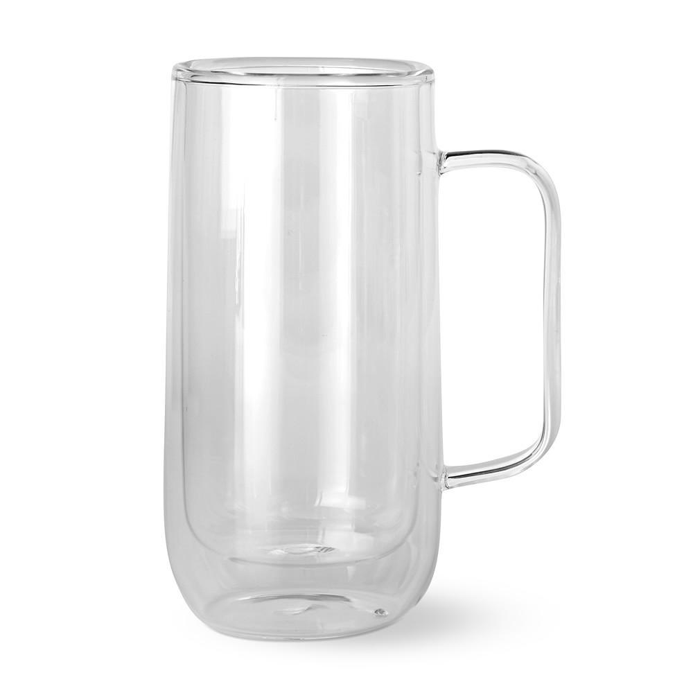 Double-Wall Glass Tall Coffee Mug