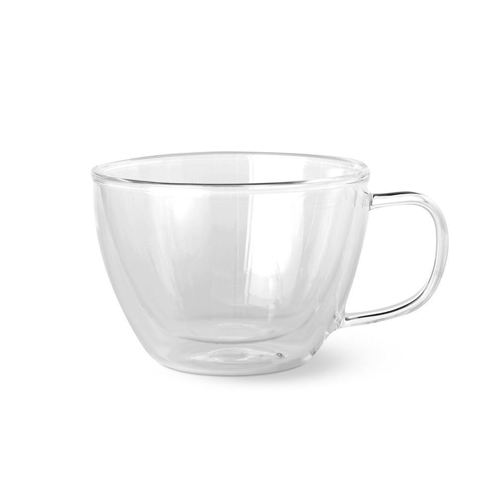 Double-Wall Glass Latte Mug
