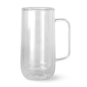 Double-Wall Glass Tall Coffee Mug