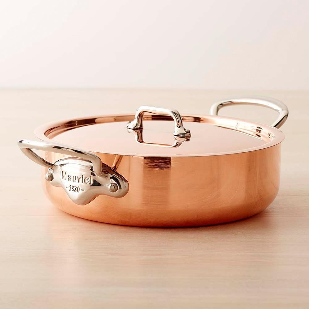 Mauviel Copper Triply Rondeau, 3.3 L