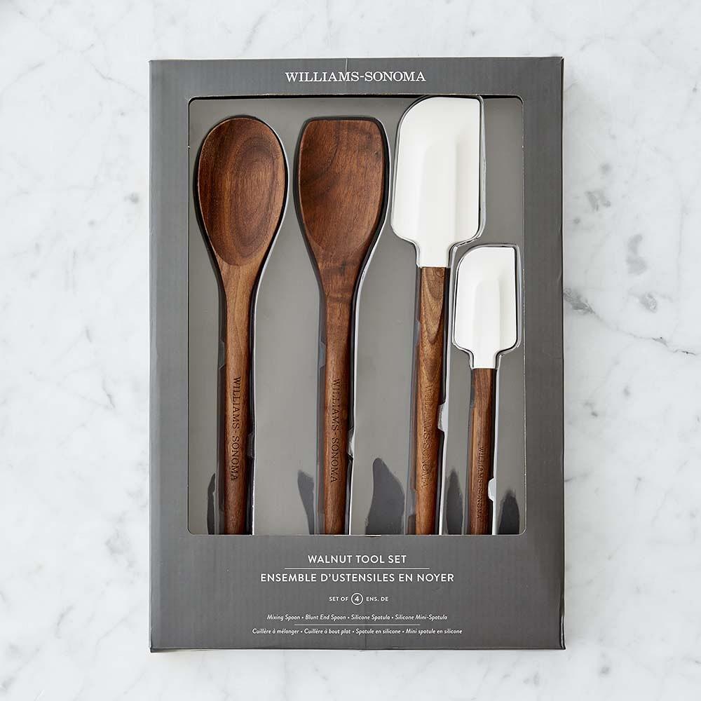 Walnut Kitchen Tools, Set of 4