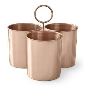 Copper Cutlery Caddy