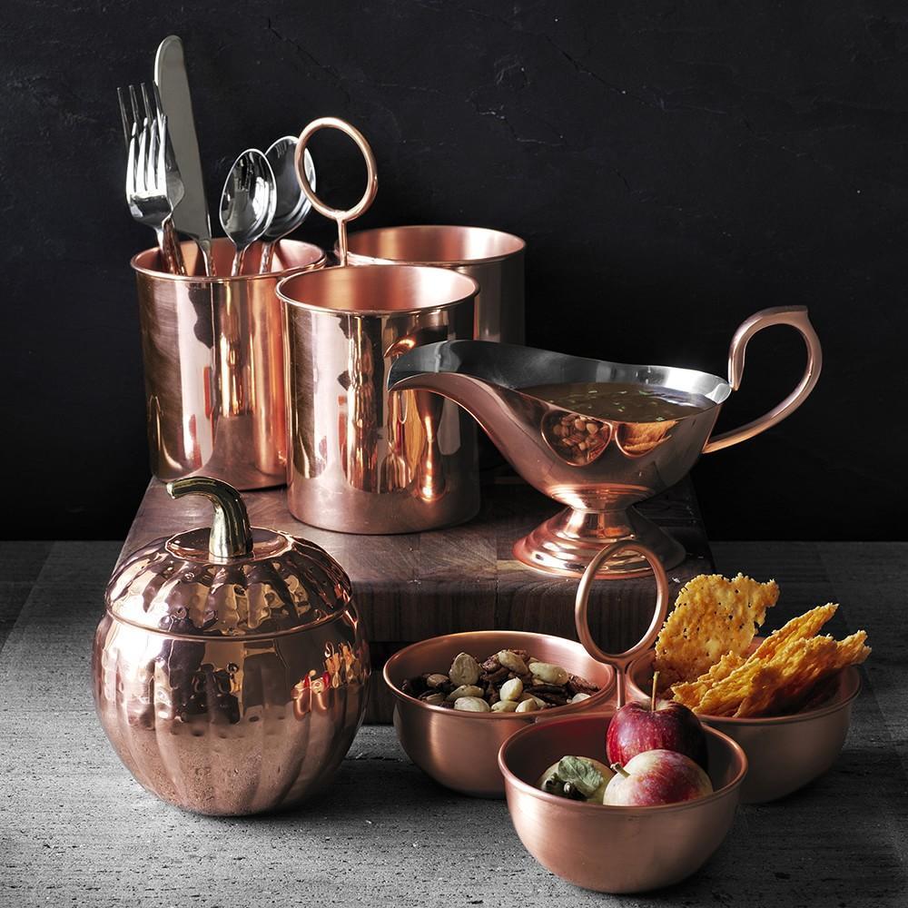 Copper Cutlery Caddy