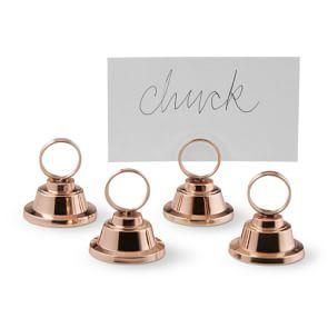 Copper Ring Place Card Holders, Set of 4