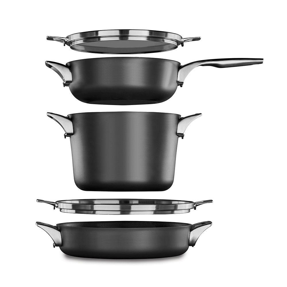 Calphalon Premier Space-Saving Hard Anodized Nonstick 5-Piece Cookware Set