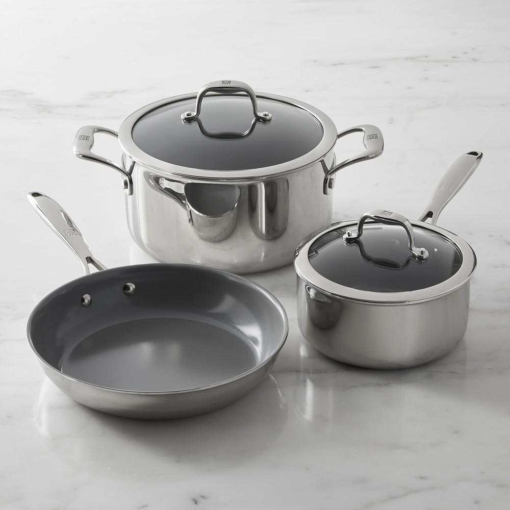 Zwilling Titanium Ceramic Non-Stick 5-Piece Cookware Set