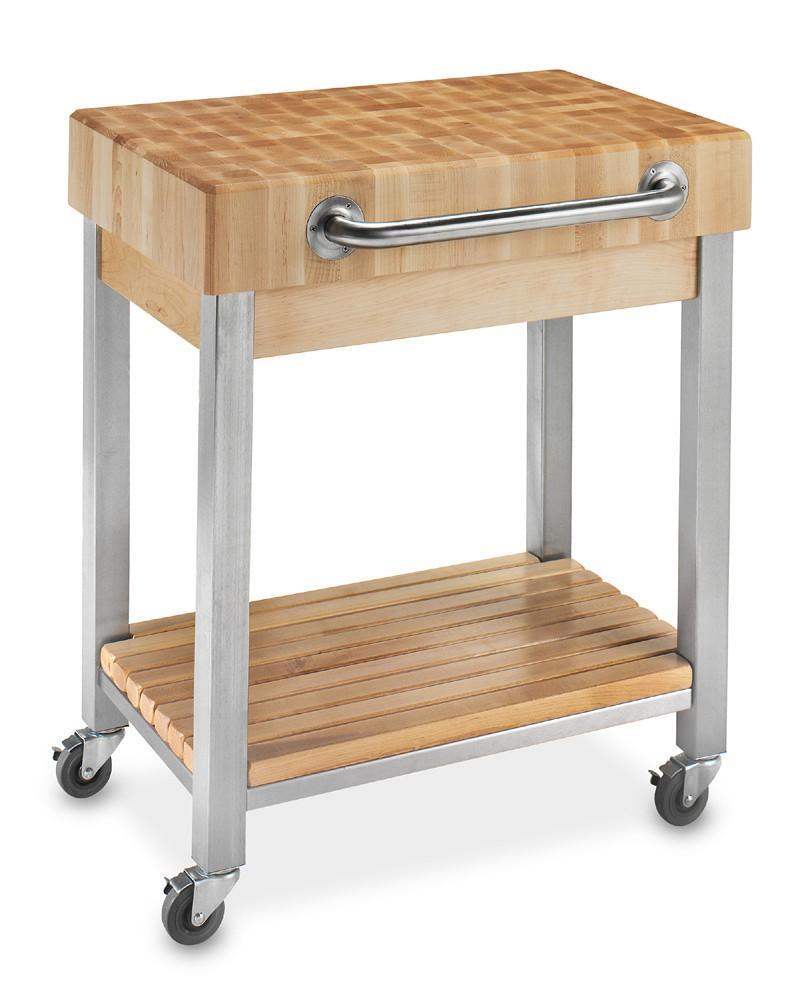 John Boos End-Grain Butcher\'s Block Classic Kitchen Cart | Williams ...