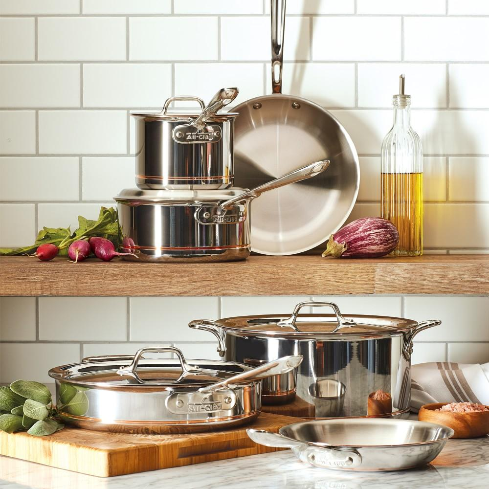 All Clad Copper Core 10 Piece Cookware Set Williams