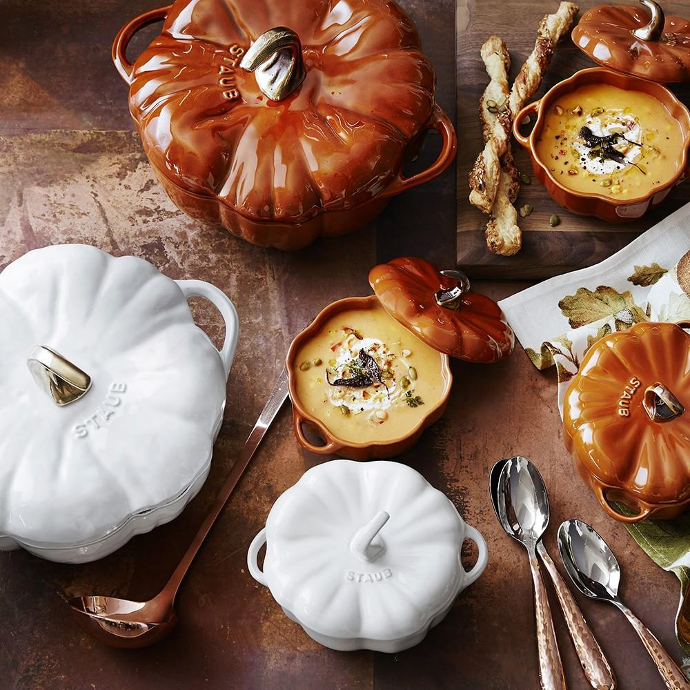 Staub Cast Iron Pumpkin Cocotte