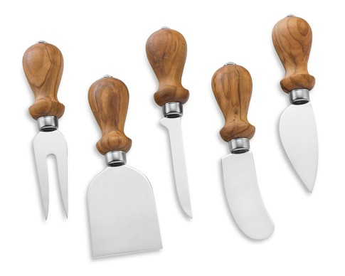 Antonini Olive Wood Cheese Knives Set
